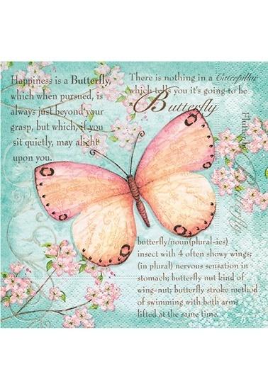 Butterfly Poetry Peçete-Dünya Style